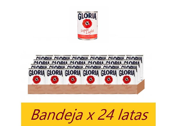 Leche evaporada Super Light. Lata 400gr. - Bandeja x 24 - Gloria