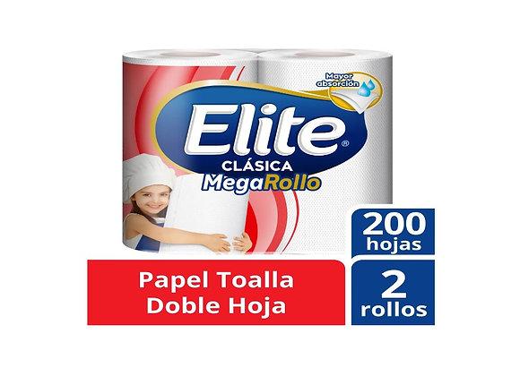 Papel Toalla Doble Hoja Megarrollo Elite Pack x 2