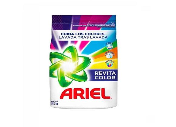 Detergente Ariel Revitacolor - Bolsa 2 Kg.