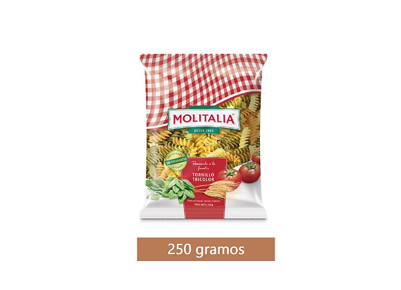 Pasta ensalada tornillo Bolsa 250 gr.  Molitalia