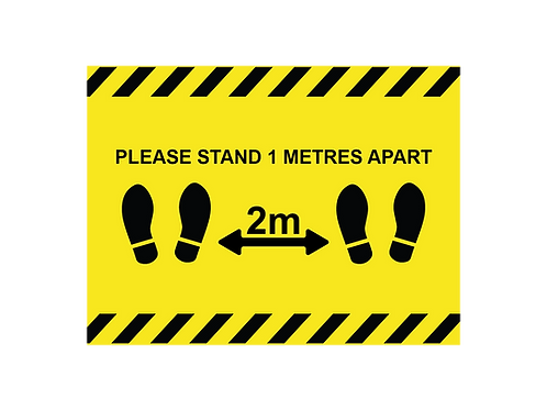 Please stand 2 metres apart social distancing internal floor sticker
