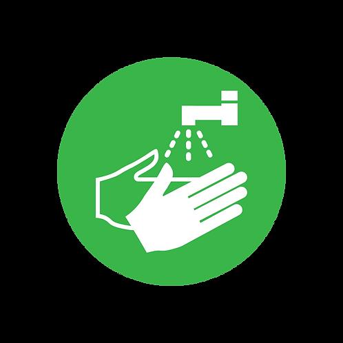 Wash hands social distancing internal floor sticker