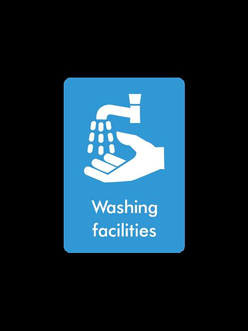 Washing facilities social distancing wall stickers