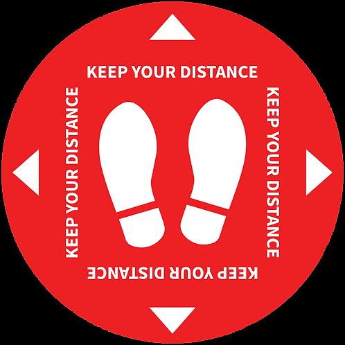 Keep your distance social distancing internal floor sticker