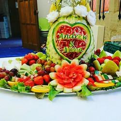 Weddings weddings and more weddings. We love weddings, and fruit has never tested better.!!!somethin