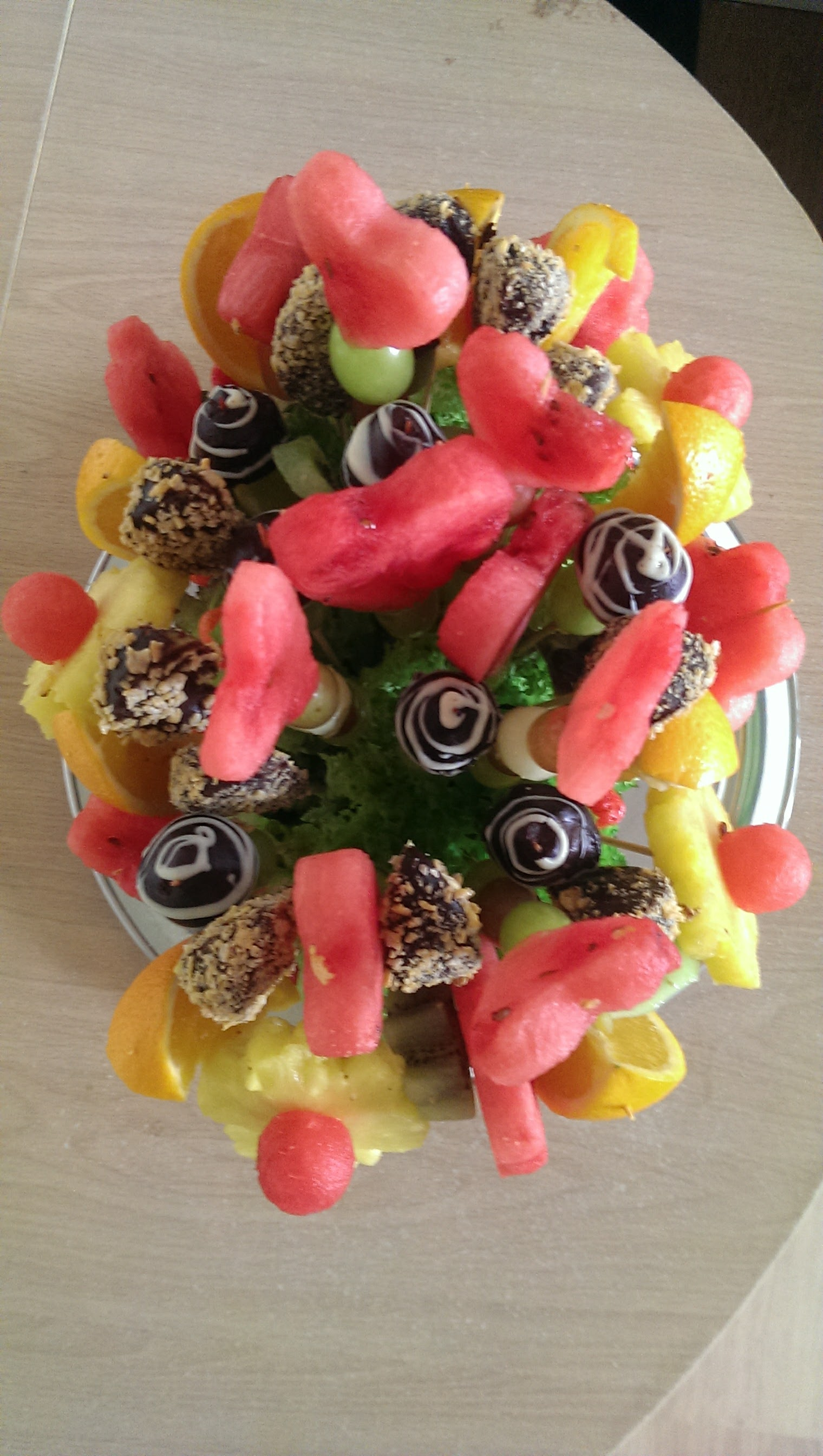 Birthday fruit boquet
