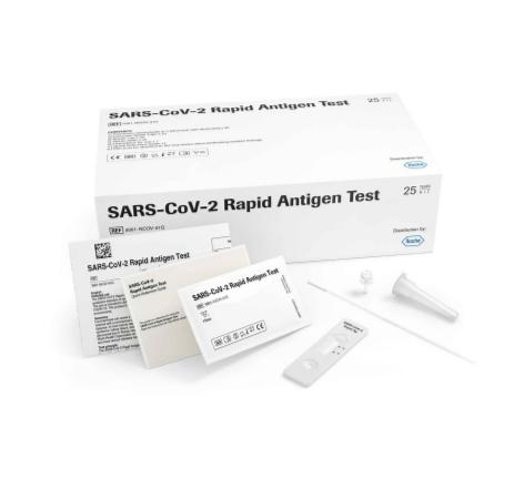 Paq. con 25 pruebas Roche de Antígeno COVID-19