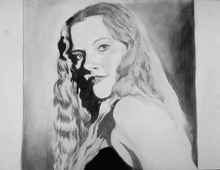 Drawing from Observation- Self Portrait in Graphite