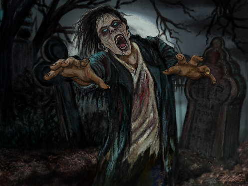 """Zombie Shuffle"" Giclee Print"