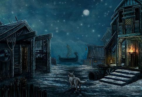 Viking Village Night