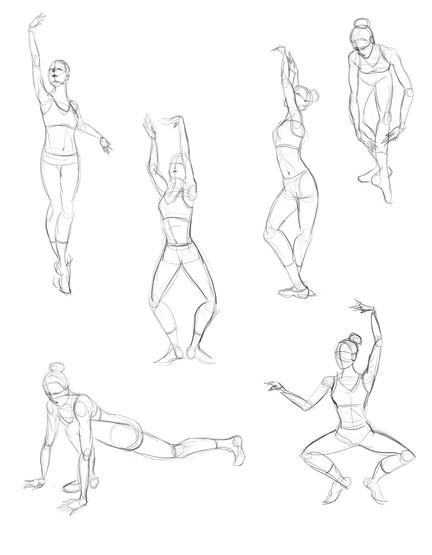 Ballet Observation Sketches