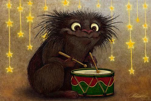 """""""Little Drummer Beast"""" Giclee Print"""