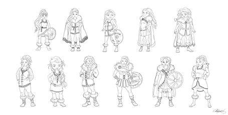3 Viking Character Eploration BW.jpg