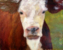Painting from Observation - Calf in a farm setting