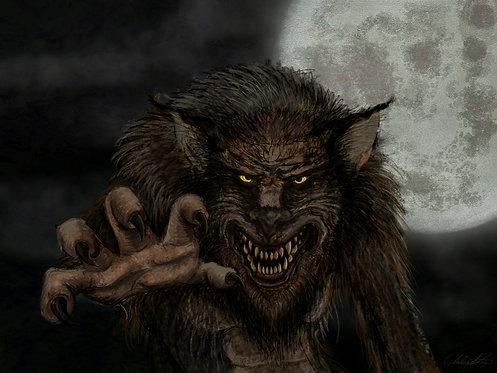 """""""Werewolf"""" Giclee Print"""