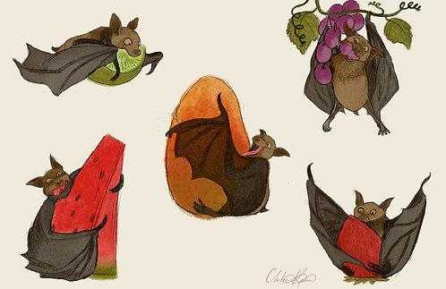 """""""Fruit Bats"""" Giclee Print"""