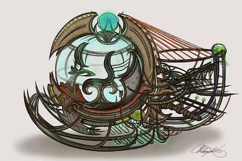 """Time Machine"" Giclee Print"