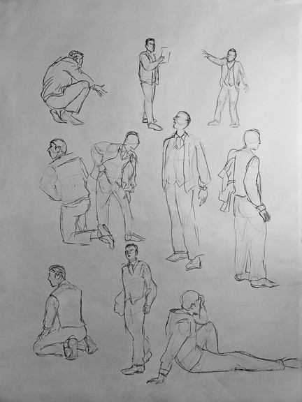 2 minute poses