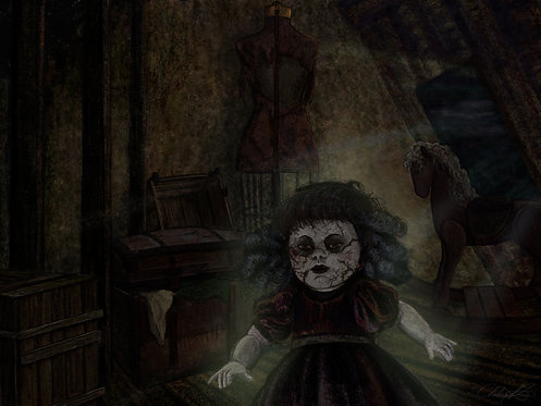 """Haunted Attic"" Giclee Print"