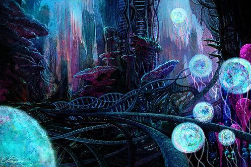 """DNA World"" Giclee Print"