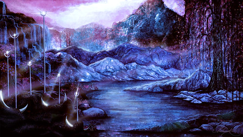 """Moonlight Mountain"" Giclee Print"