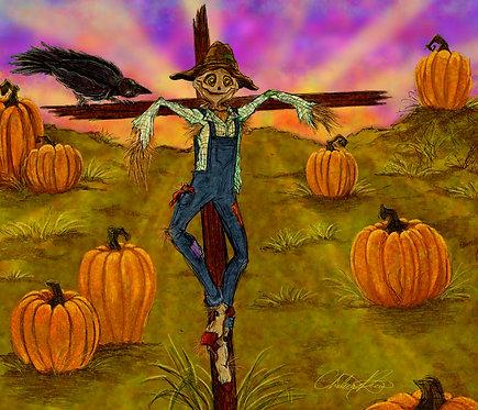 """""""Pumpkin Pals"""" Giclee Print"""