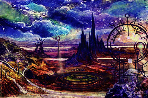 """""""Land of Time"""" Giclee Print"""