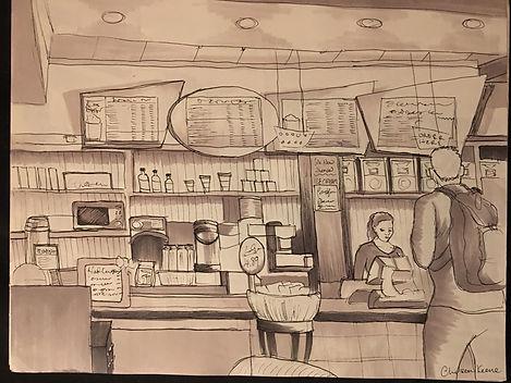Cafe Sketching