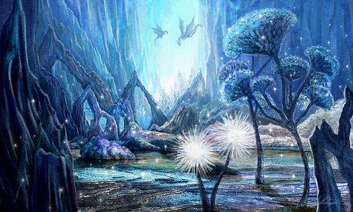 """""""Crystal Dragon World"""" Giclee Print"""