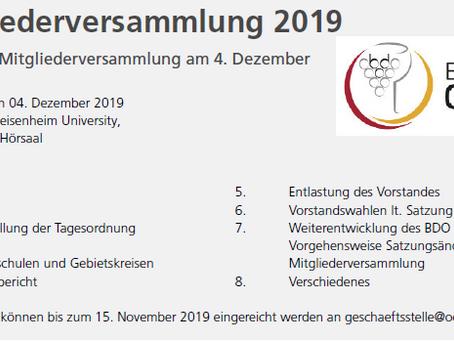 BDO Mitgliederversammlung 2019