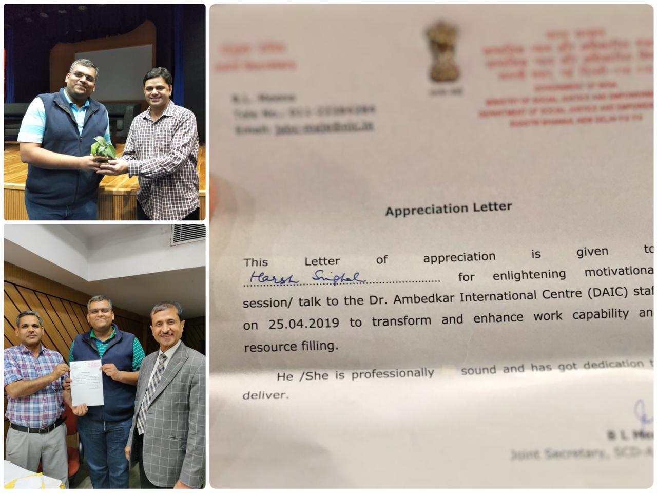 Govt. of India appreciates