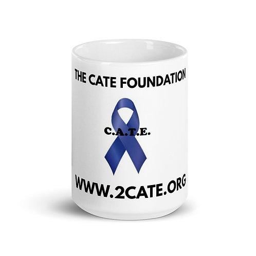 Glossy mug with Website