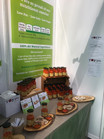 Jars and tasters at the allergy free from show