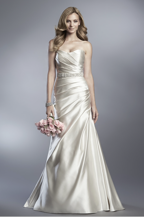 Cassidy Sara Strapless Ruched Bridal Gown