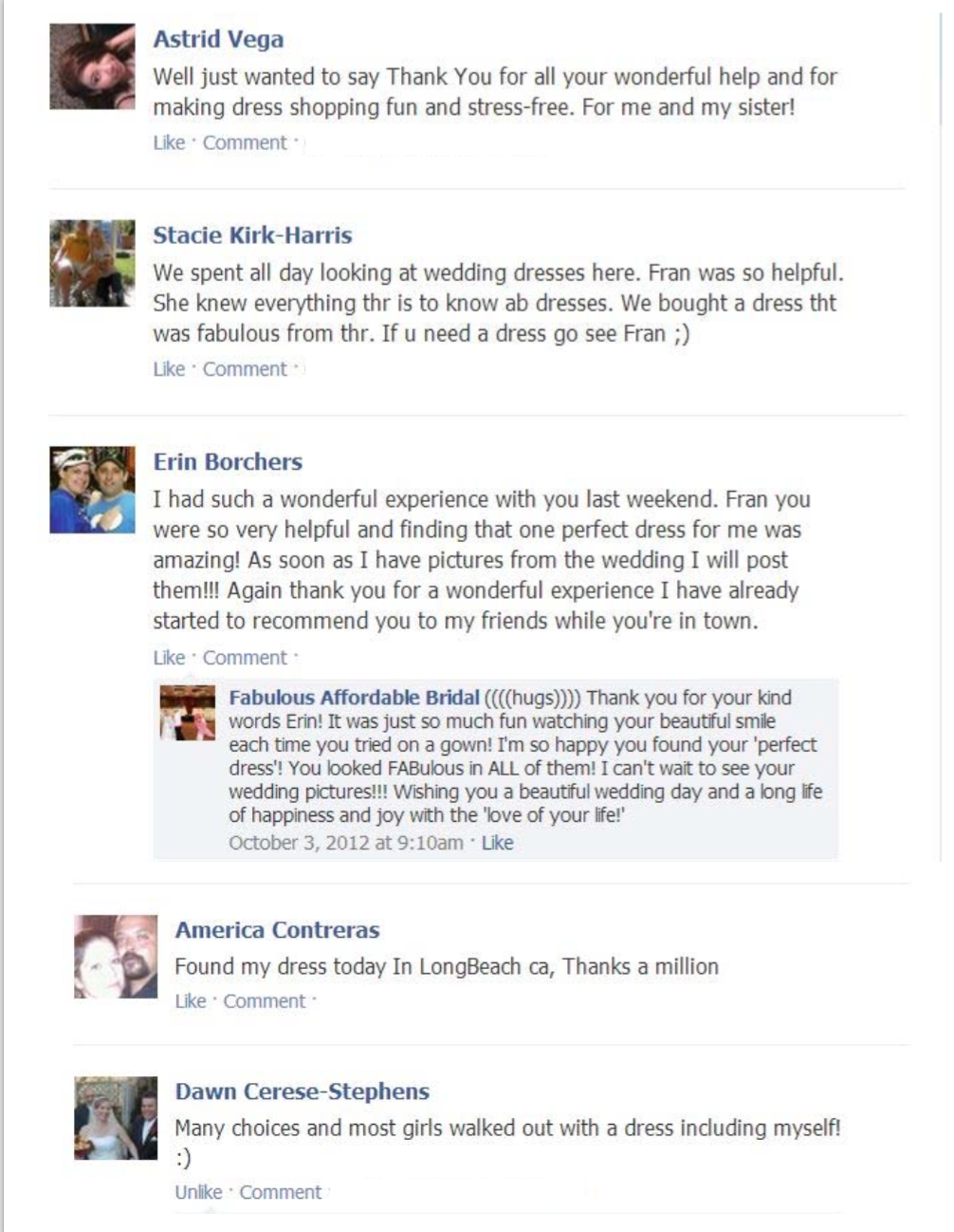 FAB Facebook COMMENTS in book20
