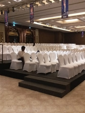 seminar with product launch in theatre seating for ISCAR_machining tool company_event by eventozo at ITC grand chola