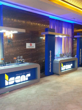product launch in special designed podium for ISCAR_machining tool company_event by eventozo at ITC Grand Chola