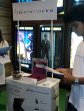 godrej_goldilocks_promotion at chennai city centre mall with models