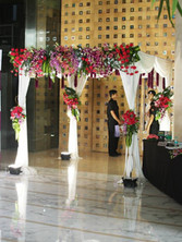 hilife_exhibition_entrance_decor_at_hyatt regency hotel_models