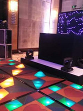 exclusive_premium_DJ_party with illuminating dance floor and led wall and console
