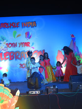 carlisle event stage with kids and family celebration