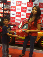hamleys instore promotion for cars movie_anchor giving gifts_event ny eventozo