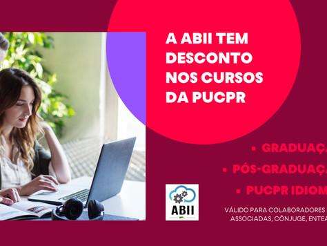 ABII firma convênio com PUCPR e oferece descontos em cursos