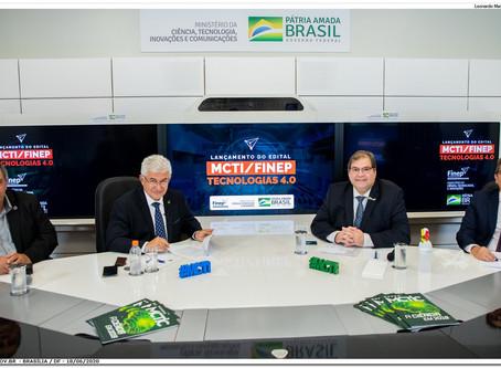 MCTI e Finep anunciam edital de R$ 50 milhões para tecnologias 4.0