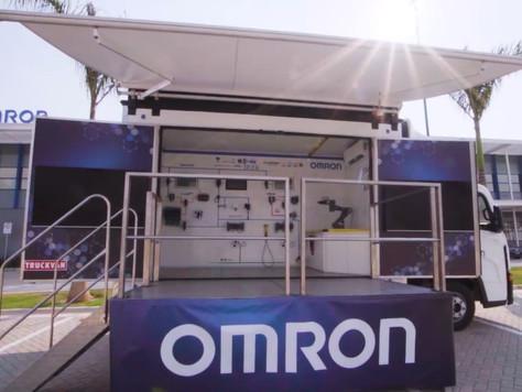 Agende seu horário e conheça o novo laboratório itinerante de robótica da Omron