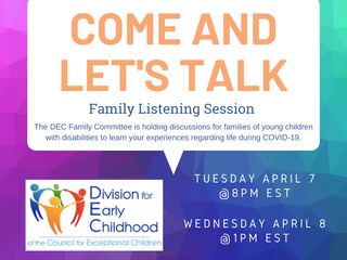 Family Listening Sessions with the DEC Family Committee