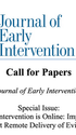 Journal of Early Intervention Special Issue: Call for Papers