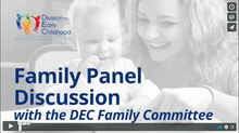 Family Panel Webinar with the DEC Family Committee