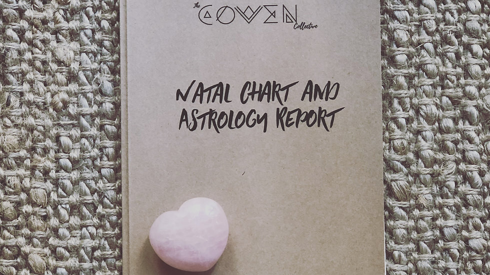 ADULT Astrology Natal Chart Art and Report Booklet Bundle