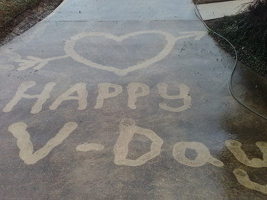 Can You Imagine a More Romantic Valentines Day Gift Then a Freshly Pressure Washed Driveway?